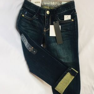 GAP KIDS 1969 CROP AND ROLL JEANS